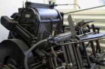 Alte Druckmaschine, Druckerei Traun, Linz, Oberösterreich